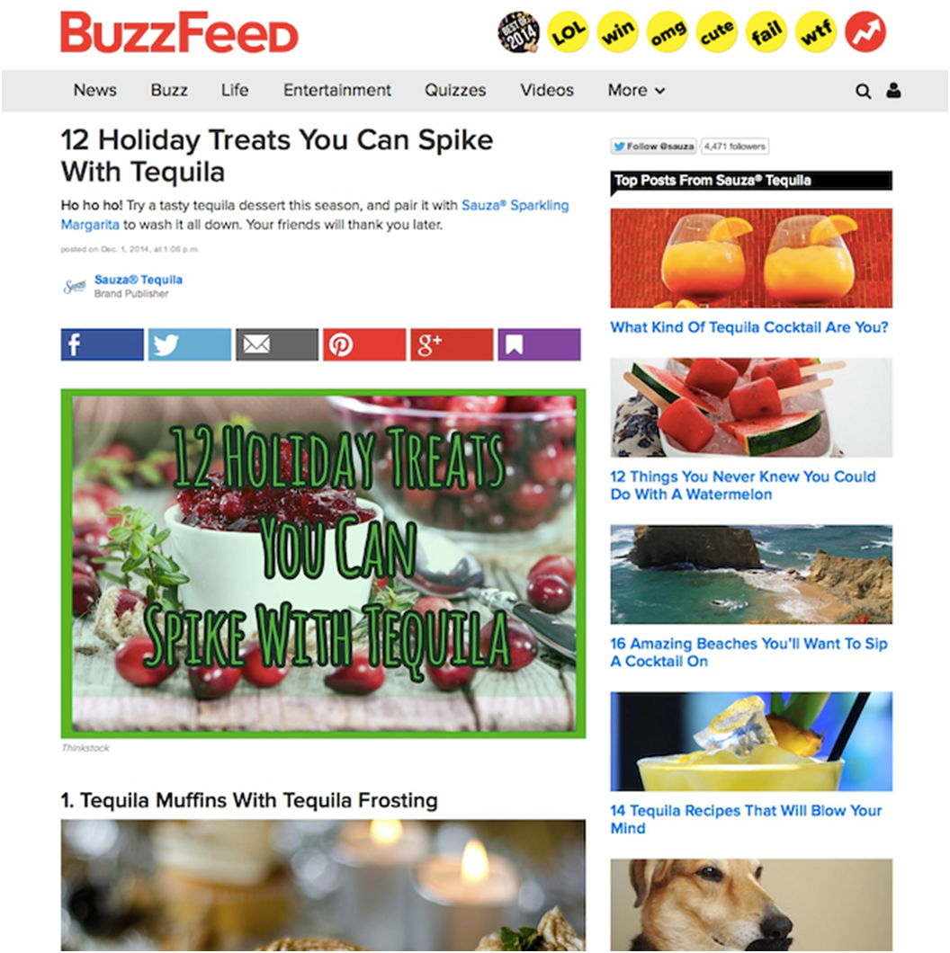 attitudes to advertising digital news report 2015 buzzfeed tequila