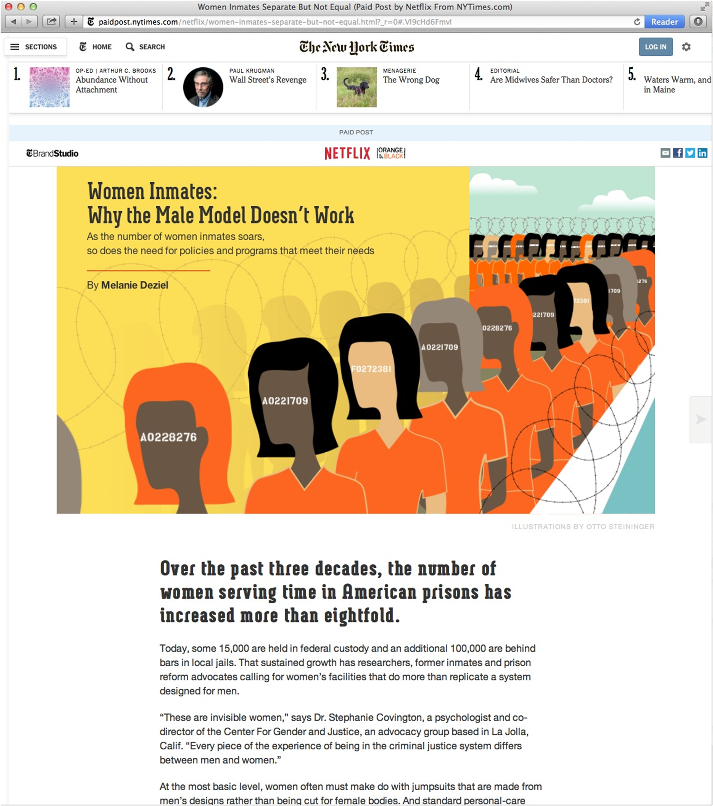 attitudes to advertising digital news report  ny times orange is the new black