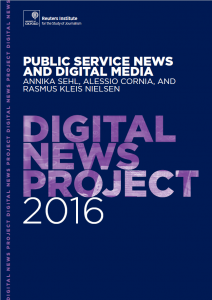 Publications reports survey research news trust digital social media